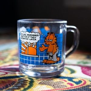 Vintage 90's Garfield glass